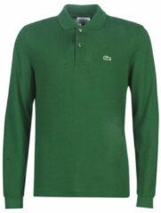 Groene Polo Shirt Lange Mouw Lacoste L1312