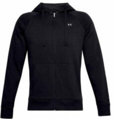 Zwarte Under Armour UA Rival Fleece FZ Hoodie Black Vest Mannen - Maat SM