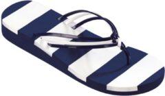 Beco teenslippers dames blauw/wit maat 42