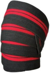Zwarte Harbinger Red Line Knee Wraps - Kniesteunen
