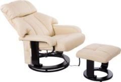 TV Sessel und Hocker mit Massage- und Heizfunktion HOMCOM creme