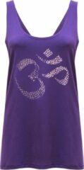 "Paarse Yoga-Tank-Top ""OM"" - purple S Loungewear shirt YOGISTAR"