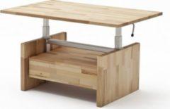 Baidani Designer Couchtisch Teppo Massivholz höhenverstellbar