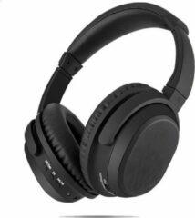 Zwarte WISEQ Over-Ear Draadloze Koptelefoon | 12-15 Uur Muziek | Actieve Noisecancelling | + Opbergtas