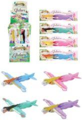 Decopatent 48 Stuks - Uitdeelcadeautjes - Fighter Gliders - Model Princess - Display - Foam Vliegtuigen - Traktatie voor kinderen - Meisjes