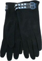Zwarte Clausy Handschoenen dames 80% wol - fashion
