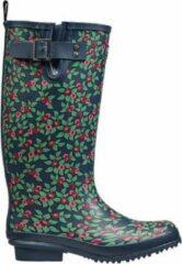 Briers - Plum Floral Rubber Boots Dames Laarzen maat 4/37