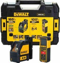 DeWALT DW0889CG Combiset DW088CG Zelfnivellerende Kruislijnlaser + DW099S Bluetooth Digitale Afstandsmeter
