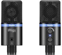 IK Multimedia IRIG MIC STUDIO BLACK USB-studiomicrofoon Kabelgebonden Incl. klem, Voet, Metalen behuizing