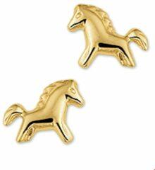 Gele Kasius Trendjuwelier huiscollectie 4009283 Gouden paarden oorbellen