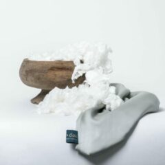 Coco & Cici zacht, luxe en duurzaam beddengoed - hoeslaken - eenpersoons - 90 x 200 x 30 - groen grijs