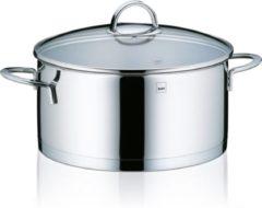 Zilveren Kookpan laag 24 cm - RVS - Kela | Cailin