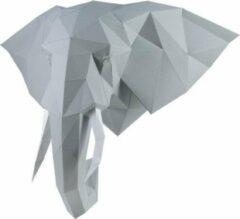 Grijze Wizardi 3D Papercraft Kit Elephant PP-1SLV-GRE