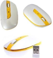 Indena G-199 Office Laptop Computermuis 2,4 GHz 1600 DPI USB draadloze optische muis - geel