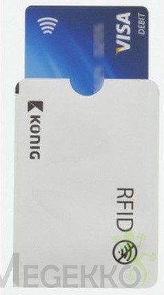 Afbeelding van König König RFID Bankpas / ID-Kaart Beschermhoes Aluminium Zilver
