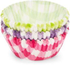 Patisse Cupcakevormen 5 Cm Papier Groen/paars/roze 90 Stuks