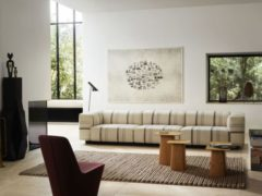 Soft Modular Ottoman - Aura Stripes 02 marmor