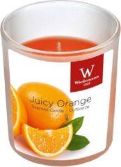 Oranje Trend Candles 1x Geurkaarsen sinaasappel in glazen houder 25 branduren - Geurkaarsen sinaasappel geur - Woondecoraties