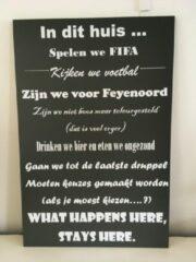 "Antraciet-grijze Tekstbord ""Feyenoord"""