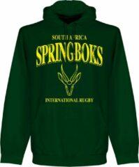 Retake Zuid Afrika Spingboks Rugby Hooded Sweater - Donkergroen - L