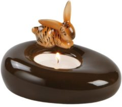 Tiger Bunny - Teelichthalter Bunny de luxe Goebel Bunt