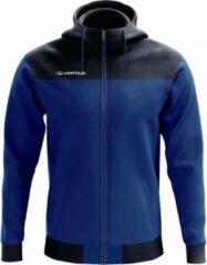 Zwarte Jartazi Sportjack Bari Hoodie Heren Polyester Blauw Maat Xxl