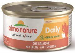 Almo Nature Almo kattenvoer mousse voor volwassene kat met zalm 85gram 1x24 stuks
