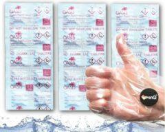 Witte LevinQ Oasis Puritabs LevinQ® Water Roeitrainer Puritabs Tabletten Roeimachines Voordeelset 3x 10 tabletten + Handschoenen