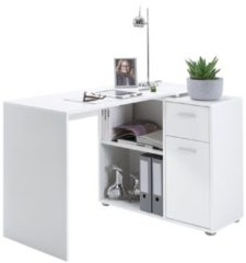 FD Furniture Hoekbureau Albrecht 117 cm breed in wit
