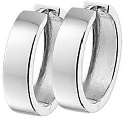 Zilveren The Jewelry Collection Klapoorringen Vlak - Zilver Gerhodineerd