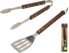 Zilveren Gusta® Gusta BBQ Toolset 2dlg