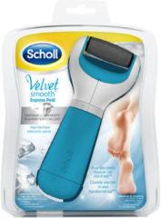 Scholl Velvet Smooth Elektronische Voetvijl Blauw - 1 stuk - Eeltverwijderaar