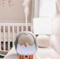 Grijze Young living Aromadiffuser Voor Kinderen - Etherische Oliën - Nachtrust - Uil - Verstuiver - Luchtbevochtiger - Nachtlampje - Vernevelaar - Aroma - Diffuser - Slaapkamer - Kinderkamer
