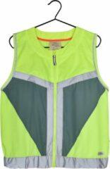 Gofluo. Rocco Veiligheidshesje - Reflecterend hesje - Fluoriserend - Veiligheidsvest - Hardloophesje - Reflectie jas - Lichtgewicht - Veilig de weg op - Geel - M