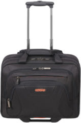 "Zwarte American Tourister At Work Rolling Tote 15.6"" black/orange Handbagage koffer Trolley"