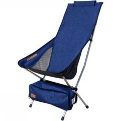 Nigor Campingstoel Kingfisher 100 Cm Polyester/aluminium Donkerblauw