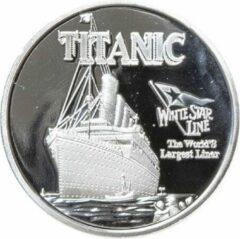 Blauwe Titanic card protector