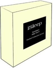 Creme witte ISleep Dubbel Jersey Hoeslaken - Litsjumeaux - 160/180x200 cm - Creme