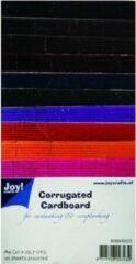 Joy! crafts - Ribbelkarton - Metallic: assorti - 8089/0223