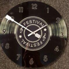 Zwarte Nowi Design Klok van glas LP 34 cm