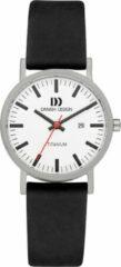 Zilveren Danish Design watches titanium dameshorloge Rhine White Black Date Small IV24Q199