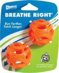 Chuckit! Chuckit breathe right fetch bal oranje 5 cm 2 st
