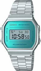 Casio A168WEM-2EF retro Horloge Mirror zilverkleurig 38,6 mm