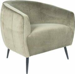 Vtw Living Sfeervolle luxe stoel - Stoel - Woonkamer - Comfort - Comfortabel - Industrieel - Luxe - Design - Comfortabele stoel - Fluweel - Groen - 67 cm breed