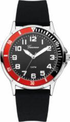 Garonne KQ13Q465 kinderhorloge 35 mm staal/rubber zwart-rood