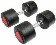 Zwarte Hammer Fitness Hammer - PU Dumbbell - PRO - per paar - 2x 32.5kg - PU