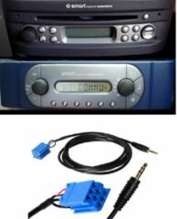 Zwarte No Name Smart For Two 450 Aux Kabel Adapter Input Grundig Mp3 Youtube Iphone