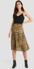 NA-KD Trend Animal Printed Midi Skirt - Brown