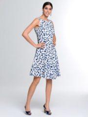 Kleid Alba Moda Weiß/Marineblau