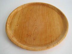Zevenburgen Houten pizzabord - Ø 35 cm - elzenhout